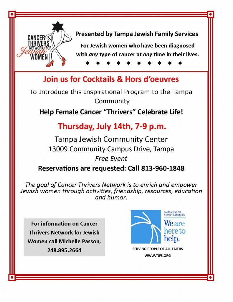 Cancer Thrivers Event Flyer-final