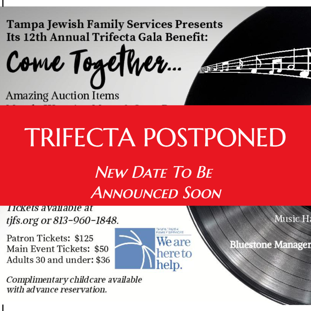 Trifecta 2020 (Postponed) @ Congregation Schaarai Zedek | Tampa | Florida | United States
